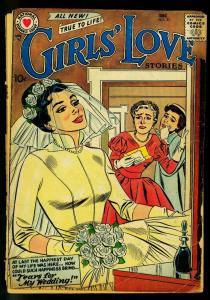 Girls' Love Stories #51 1957- DC Romance- Bride cover- FAIR