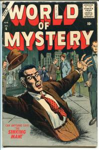 WORLD OF MYSTERY #6-1957-ATLAS-WILLIAMSON-MAYO-DITKO-COLAN-HORROR-vg+