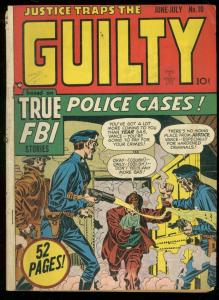 JUSTICE TRAPS THE GUILTY #10 1949-FBI-KIRBY KRIGSTEIN VG