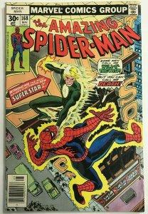 AMAZING SPIDER-MAN#168 FN 1977 MARVEL BRONZE AGE COMICS