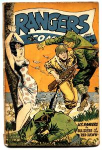 Rangers Comics #17 1944-Wild spicy GGA cover-Golden-Age