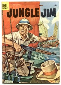 jungle Jim #4 1955- Dell comics- Smuggler's Den VF