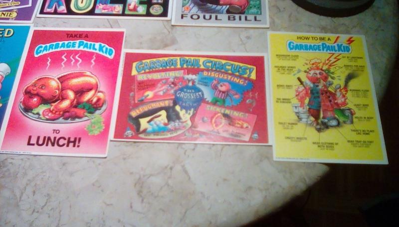 1986 TOPPS GARBAGE PAIL KIDS 1ST SERIES GIANT SIZED (LOT OF 9)