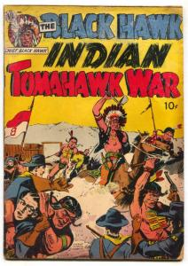 Black Hawk Indian Tomahawk War 1951- Western comic G+