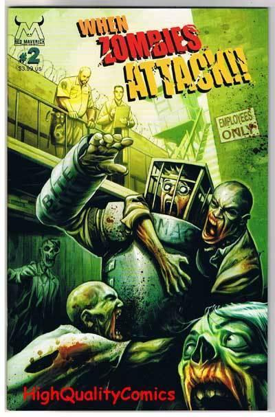 WHEN ZOMBIES ATTACK #1 2 3 4 5, NM+, Walking Dead, Mahfood, 2005, Horror