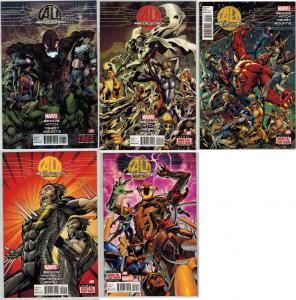 Avengers: Age of Ultron #1-10 Lot of 5Diff Black Widow Wolverine Hawkeye Spidey+