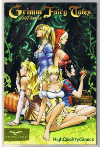 GRIMM FAIRY TALES 2007 Annual, Pinocchio, Jack and Jill, Peter Pumpkin Eater, NM