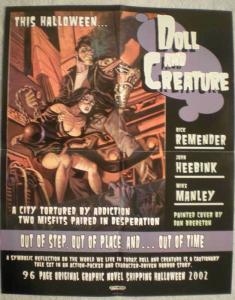 DOLL & CREATURE Promo poster, Dan Brereton, 16x20, Unused, more Promos in store