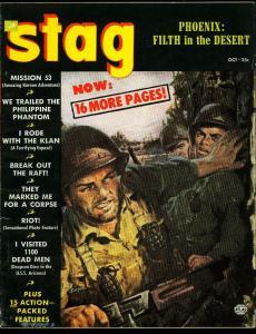 Stag Pulp Magazine October 1952- Ku Klux Klan- Philippine Phantom FN