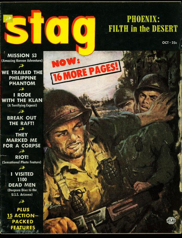 Stag Pulp Magazine October 1952- Ku Klux Klan- Philippine Phantom FN
