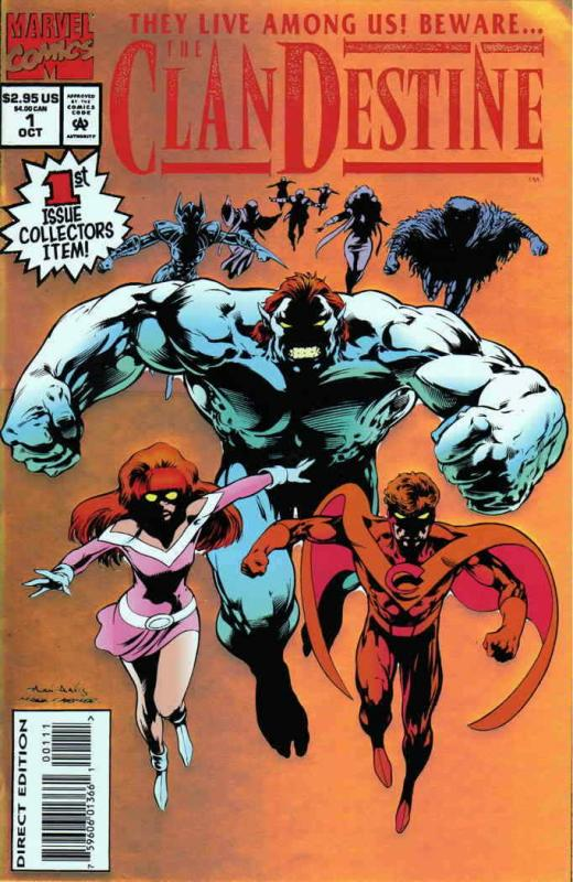 Clandestine #1 VF/NM; Marvel | save on shipping - details inside