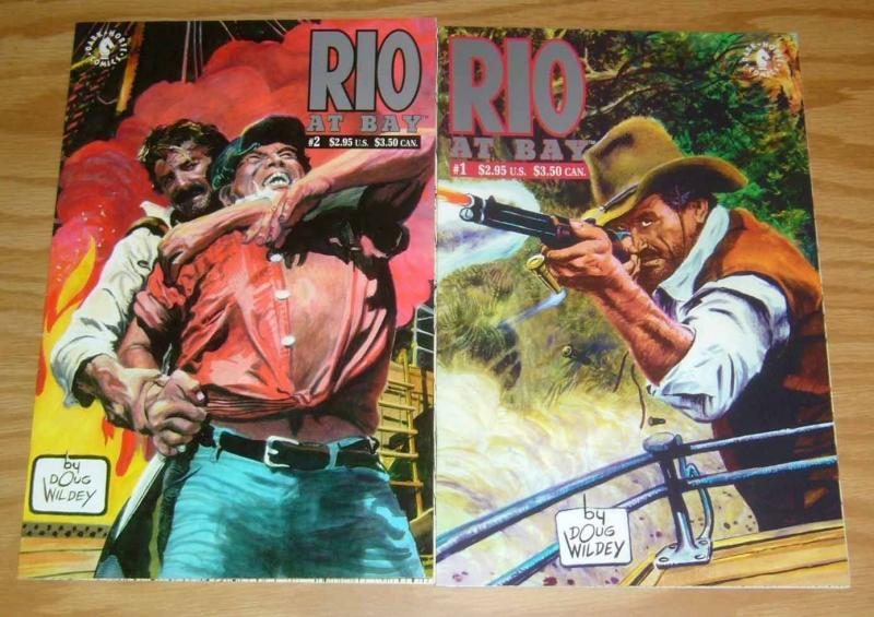 Rio At Bay #1-2 VF/NM complete series - doug wildey - dark horse comics western