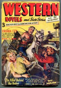 Western Novels and Short Stories Pulp August 1952- Louis L'amour
