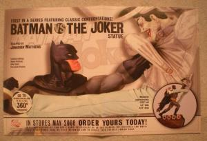 BATMAN VS THE JOKER STATUE Promo Poster, 2008, Unused, more in our store