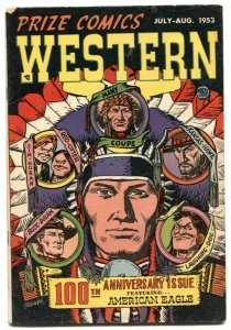 Prize Comics Western #100 1953- AMERICAN EAGLE- VG