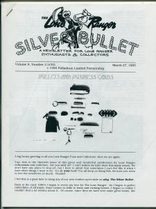 Lone Ranger Silver Bullet Newsletter #30 3/1995-Xerox format-limited printing-FN