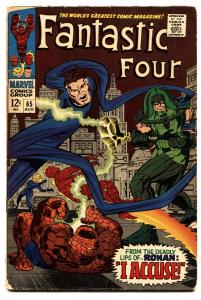 FANTASTIC FOUR #65 comic book FIRST RONAN THE ACCUSER--1967-GOTG
