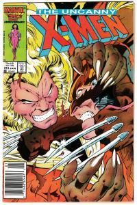 Uncanny X-Men #213 (Marvel, 1987) GD/VG