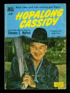 Hopalong Cassidy Digest - 1950- Dell- William Boyd photo cover - VG