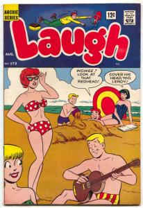 Laugh Comics #173 1965- great swimsuit cover- Archie comics VF