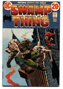 SWAMP THING #2 1972- 1st Arcane- Patchwork Man FN-