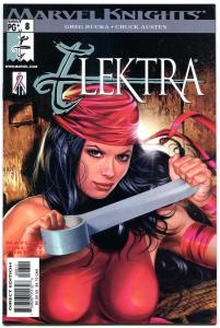 ELEKTRA #8, NM+, Greg Horn, Sai, Martial Arts, Femme Fatale, 2001. more in store