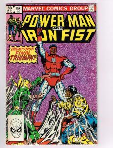 Power Man & Iron Man #96 VF Marvel Comics Netflix Comic Book Aug 1983 DE42