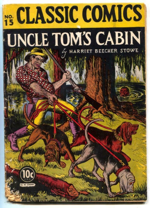 Classic Comics #15 HRN 14-Uncle Tom's Cabin-1st edition G-