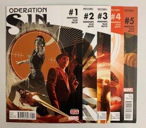 Operation S.I.N. #1-5 Set (Marvel 2015) 1 2 3 4 5 Kathryn Immonen (8.5+)