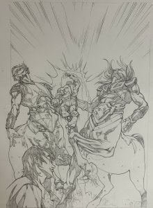Incredible Hulks Hulk 617 Splash Page Victor Drujiniu Original Art Amadeus Cho