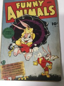 Funny Animals 17 Gd/Vg Good/Very Good Water Damage Fawcett