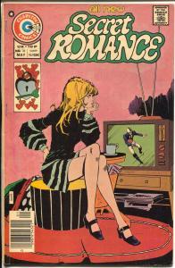 Secret Romance #38 1976-spicy woman watches football on TV-G