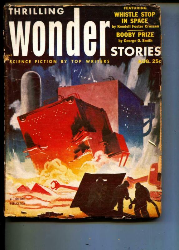 Thrilling Wonder Stories-Pulp-8/1953-Kendell Foster Crossen-Mike Curry
