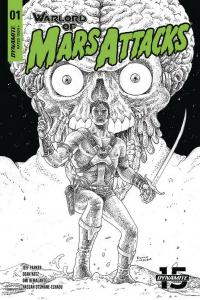 WARLORD OF MARS ATTACKS (2019 DYNAMITE) #1 VARIANT 1:40 VILLALOBOS PRESALE-06/19