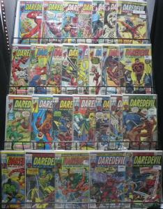 DAREDEVIL BRONZE AGE COLLECTION! 27 ISSUES FROM #84 to 155! Bullseye!Black Widow