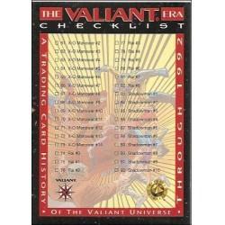 1993 Valiant Era CHECKLIST B - Card #120