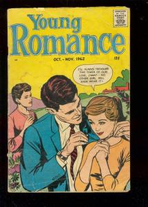 YOUNG ROMANCE-VOL 15 #6-OCT 1962-BOXING-FOOTBALL-TWIST G