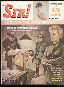 SIR MAGAZINE JANUARY 1961-ROBBERT LOGGIA-WILT CHAMBERLAIN-CHEESECAKE-VG+