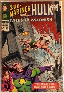 Tales to Astonish #86 - Sub-Mariner & Hulk - Good+ 2.5 (1966)