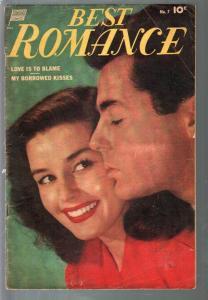 Best Romance #7 1952-photo cover-final issue-Sekowsky-Celardo-VG-
