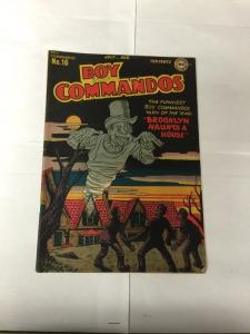 Boy Commandos 16 Fine F 6.0 See Pictures