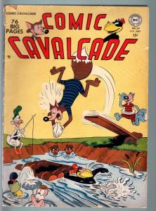 COMIC CAVALCADE #39-1950-DC-EARLY SQUAREBOUND ISSUE-FOX & CROW-RACCOON KIDS  G-