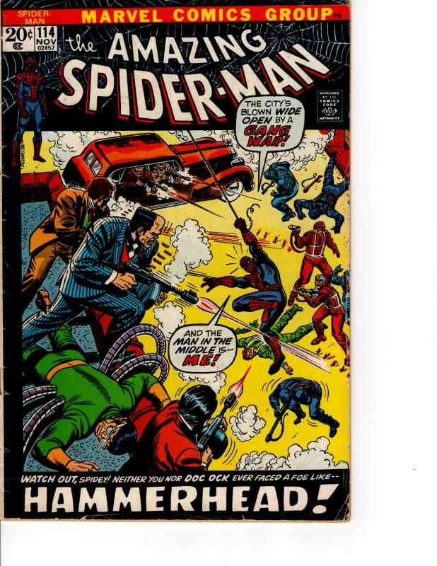 KEY ISSUE MARVEL The Amazing Spider-Man (1963 Series) #114 NOV 1972 FN-