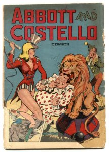 Abbott and Costello #4 1948- whipping cover- G-