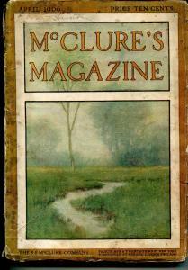 McClures  Magazine 4/1906-pulp thrills-impressive art-classic ads-FR/G