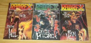 Radrex #1-3 VF/NM complete series - mark beachum cover art - bullet comics 2 set