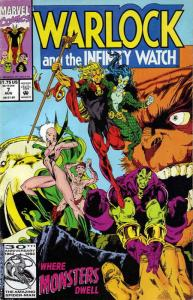 Warlock and the Infinity Watch #7 FN; Marvel | save on shipping - details inside