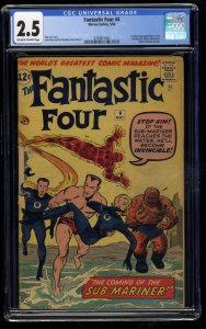Fantastic Four #4 CGC GD+ 2.5 Off White to White 1st Silver Age Sub-Mariner!