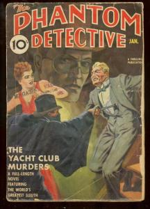 PHANTOM DETECTIVE JAN 1939-YACHT CLUB MURDERS HERO PULP G