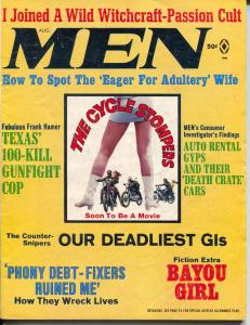 Men 8/1968-Atlas-Cyclestompers Motorcycle Gang-cheesecake-Pollen-VG/FM